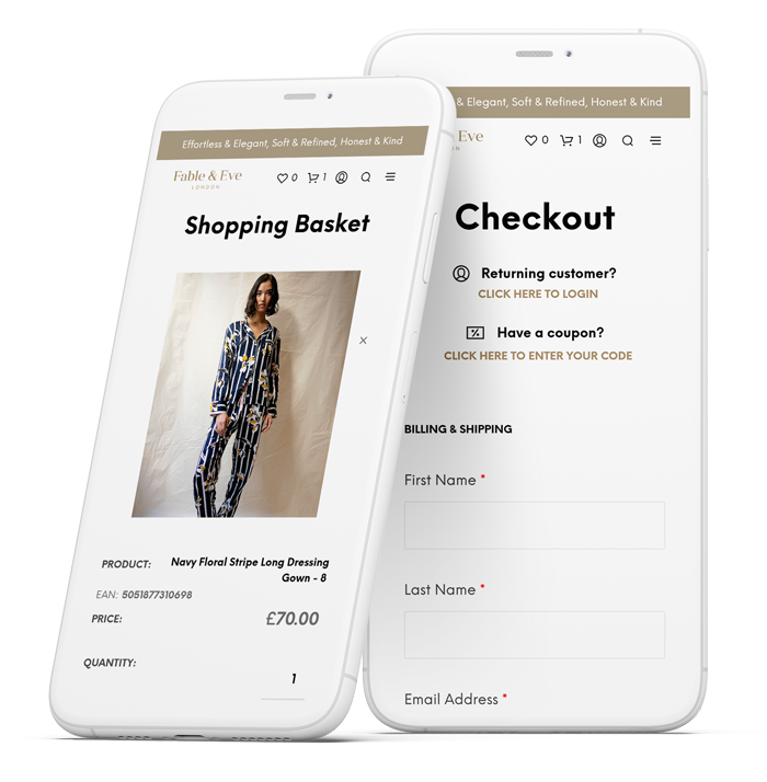 Ecommerce redesign on phone screens